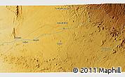 Physical 3D Map of Tamanrasset
