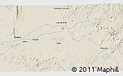 Shaded Relief 3D Map of Tamanrasset