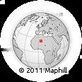 Outline Map of Tamanrasset, rectangular outline