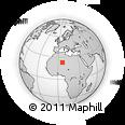 Outline Map of Abalessa, rectangular outline