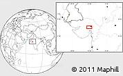Blank Location Map of Ahmadābād