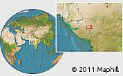 Satellite Location Map of Ahmadābād