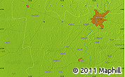 """Physical Map of the area around 22°53'22""""N,72°19'29""""E"""
