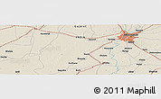 Shaded Relief Panoramic Map of Ahmadābād