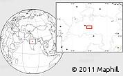 Blank Location Map of Bareli