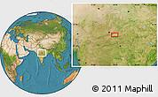 Satellite Location Map of Bareli
