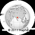 Outline Map of Sohāgpur, rectangular outline