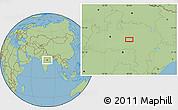 "Savanna Style Location Map of the area around 22°53'22""N,79°58'29""E"