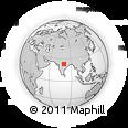 Outline Map of Tikaria, rectangular outline