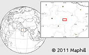 """Blank Location Map of the area around 22°53'22""""N,80°49'29""""E"""