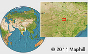 """Satellite Location Map of the area around 22°53'22""""N,80°49'29""""E"""