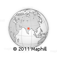 """Outline Map of the Area around 22° 53' 22"""" N, 80° 49' 29"""" E, rectangular outline"""