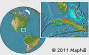 Satellite Location Map of Colón