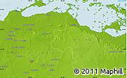 Physical Map of Martí
