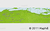 Physical Panoramic Map of Martí