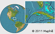 """Satellite Location Map of the area around 22°53'22""""N,81°31'30""""W"""