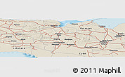 Shaded Relief Panoramic Map of Matanzas