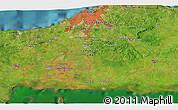 Satellite 3D Map of Güira de Melena