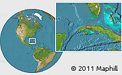 Satellite Location Map of San José de las Lajas