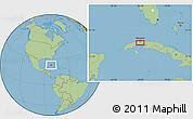 Savanna Style Location Map of Güines