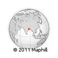 Outline Map of Bistupur Market, rectangular outline