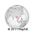 """Outline Map of the Area around 22° 53' 22"""" N, 97° 49' 29"""" E, rectangular outline"""