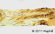"""Physical Panoramic Map of the area around 22°53'22""""N,97°49'29""""E"""