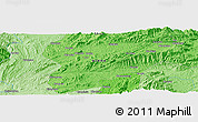 """Political Panoramic Map of the area around 22°53'22""""N,97°49'29""""E"""