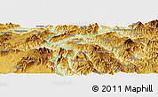 "Physical Panoramic Map of the area around 22° 53' 22"" N, 98° 40' 30"" E"