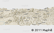 "Shaded Relief Panoramic Map of the area around 22° 53' 22"" N, 98° 40' 30"" E"