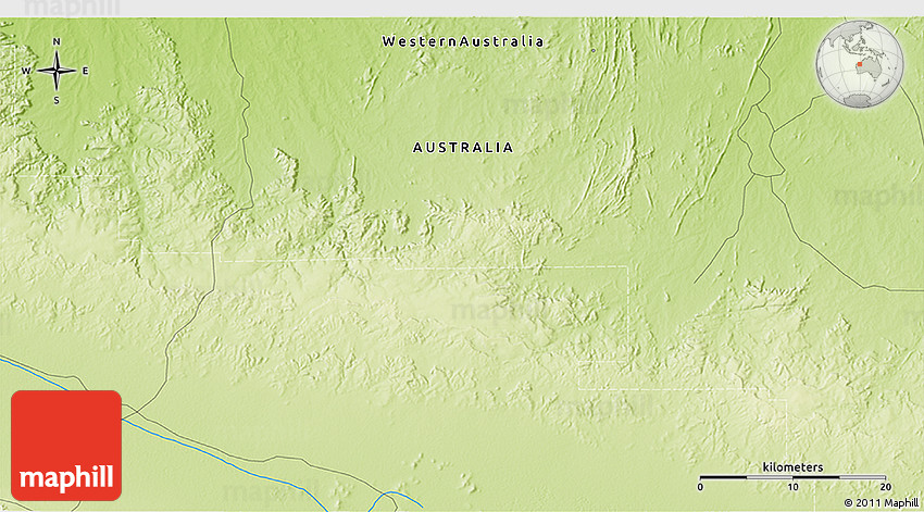 Physical 3D Map of Western Shaw