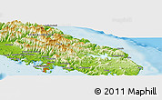 Physical Panoramic Map of Nouméa