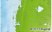 """Physical Map of the area around 22°3'23""""S,43°25'29""""E"""