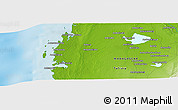 """Physical Panoramic Map of the area around 22°3'23""""S,43°25'29""""E"""