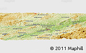 """Physical Panoramic Map of the area around 22°3'23""""S,43°16'29""""W"""