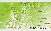 """Physical 3D Map of the area around 22°3'23""""S,44°16'29""""E"""