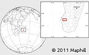 Blank Location Map of Ankazoabo