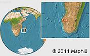 Satellite Location Map of Ankazoabo