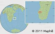 Savanna Style Location Map of Ankazoabo