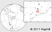 Blank Location Map of Ribeiro