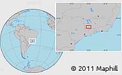 Gray Location Map of Ribeiro