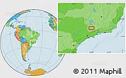 Political Location Map of Ribeiro