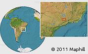 Satellite Location Map of Ribeiro