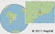 Savanna Style Location Map of Ribeiro