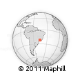 Outline Map of Taquaral, rectangular outline
