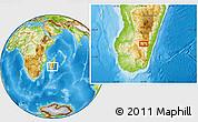 Physical Location Map of Ambalavao