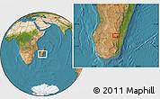 Satellite Location Map of Ambalavao