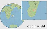 Savanna Style Location Map of Ambalavao