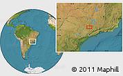 "Satellite Location Map of the area around 22°3'23""S,46°40'29""W"