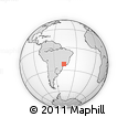 """Outline Map of the Area around 22° 3' 23"""" S, 46° 40' 29"""" W, rectangular outline"""